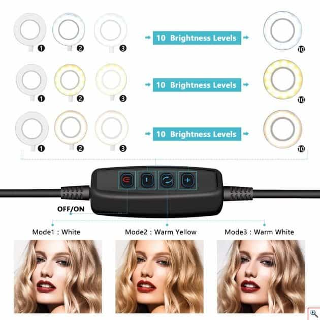 Ring Φως LED 12 inches με τρίποδο